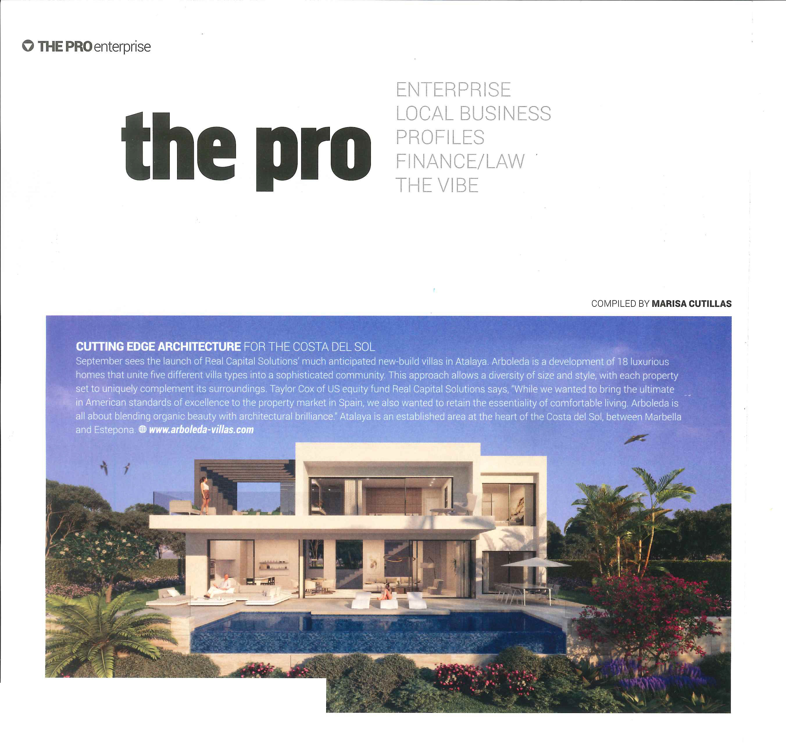 Arboleda by Real Capital Solutions as featured in Essential Magazine