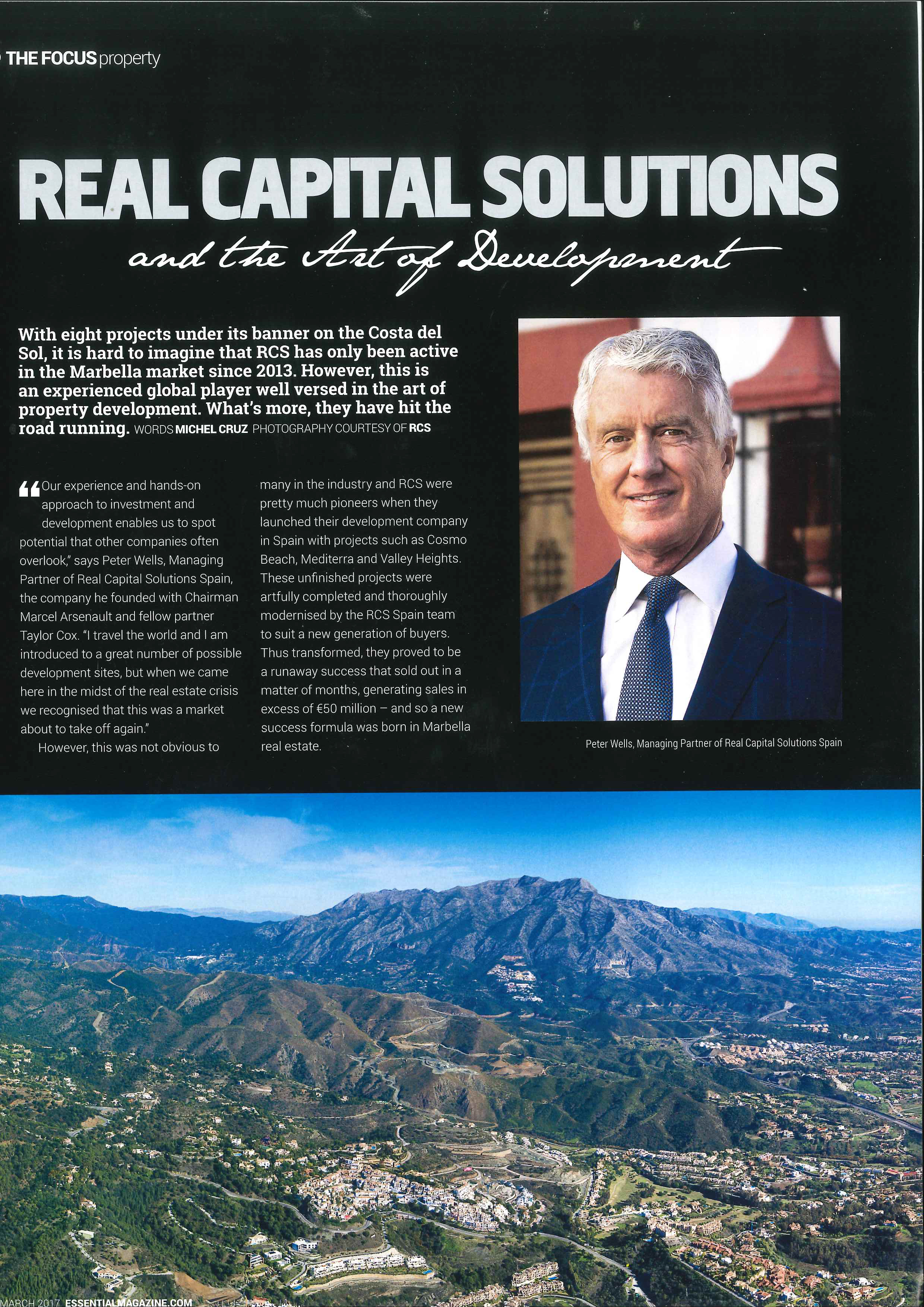 Peter Wells, Managing Partner of Real Capital Solutions Spain discusses the Art of Development