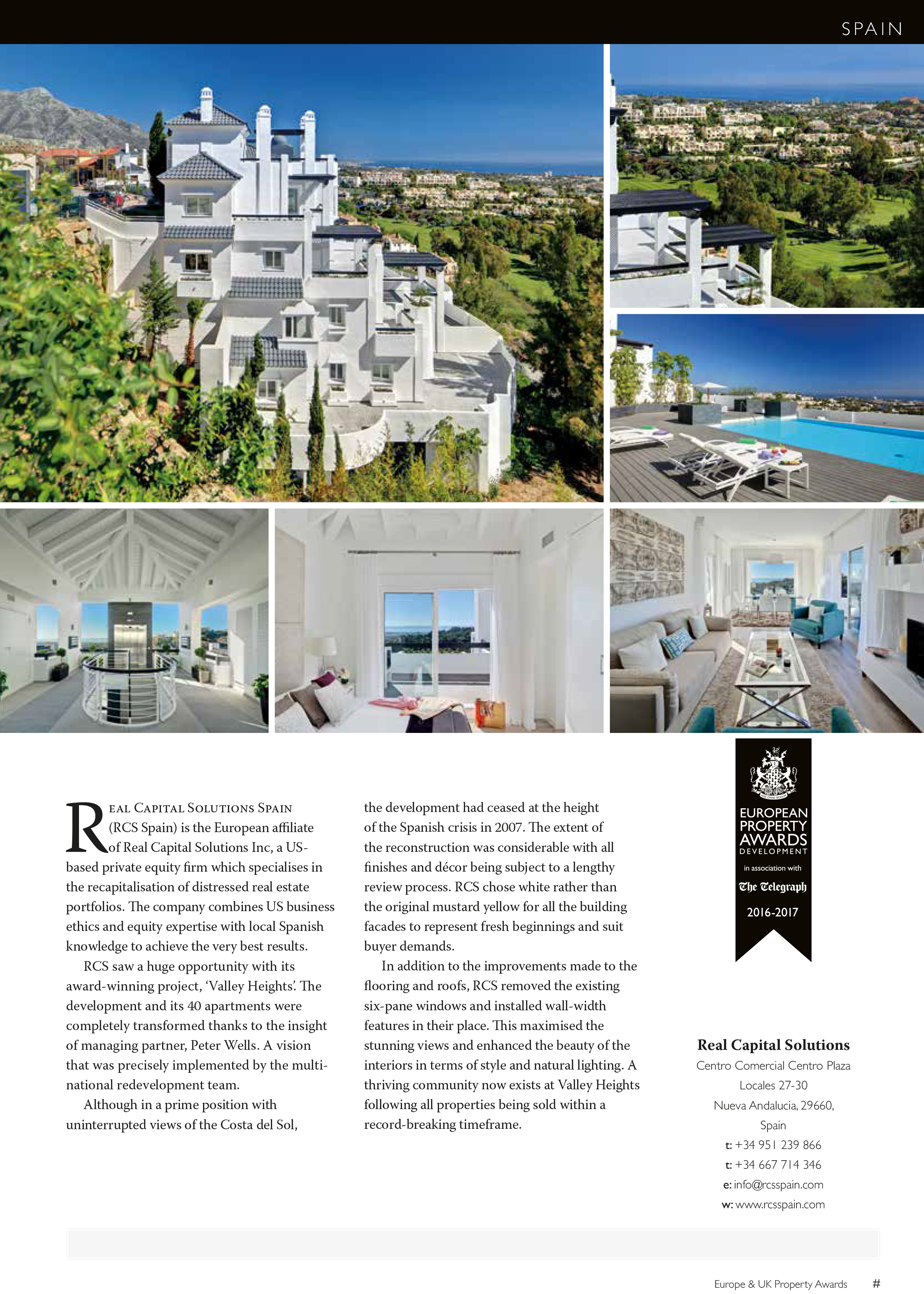 Arboleda by Real Capital Solutions as featured in Olive Press