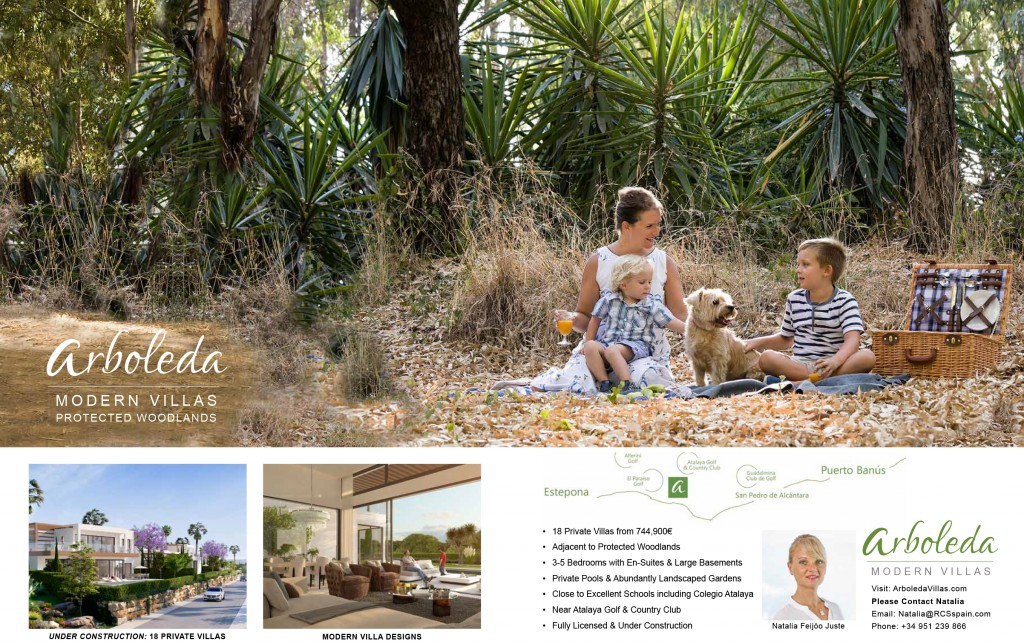 Arboleda's Protected Woodlands. As seen in Essential Marbella Magazine.